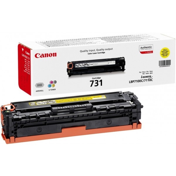 Reincarcare cartus toner Canon Yellow CRG-731Y