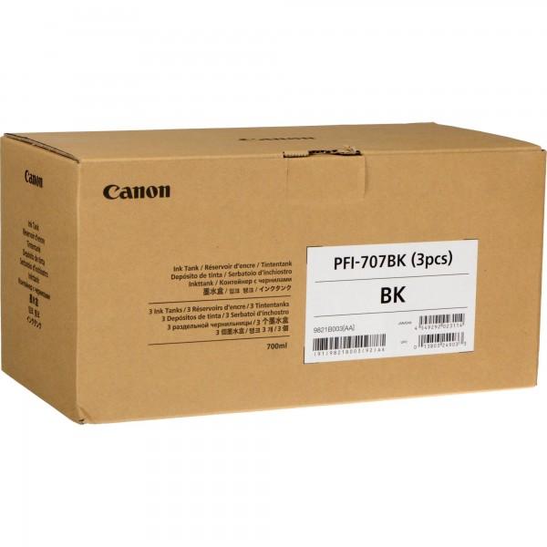 Cartus Canon PFI-707BK X3 , negru, pack 3 x 700ml