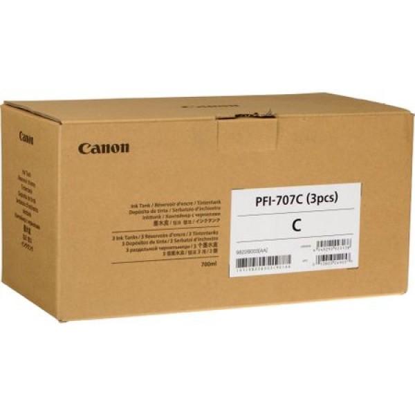 Cartus Canon PFI-707C X3 , cyan, pack 3 x 700ml