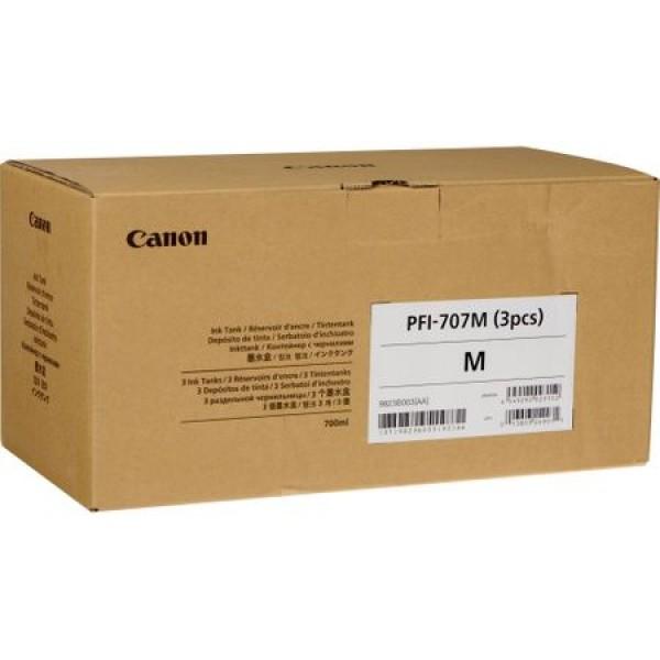 Cartus Canon PFI-707M X3 , magenta pack 3 x 700ml