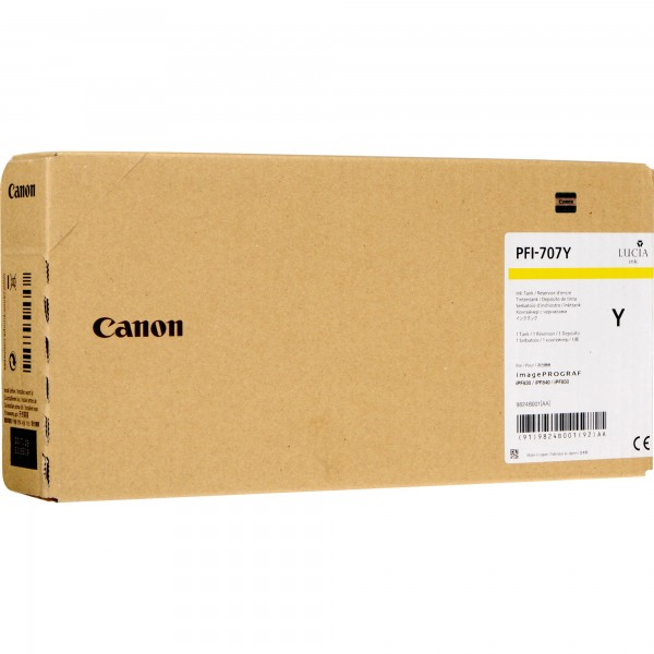 Cartus Canon PFI-707Y , yellow, 700ml