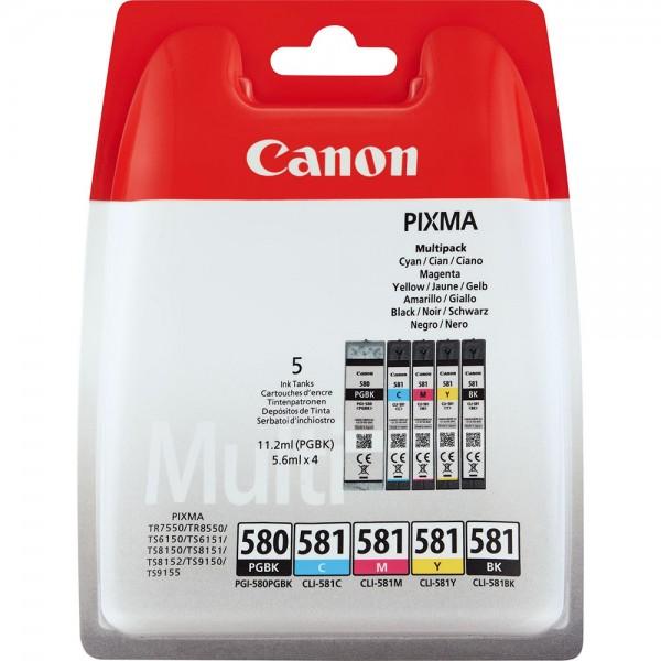 Set cartus cerneala Canon, PGI-580/CLI-581 PGBK/C/...