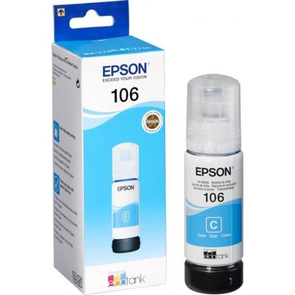 Cartus cerneala Epson 106 EcoTank Cyan C13T00R240