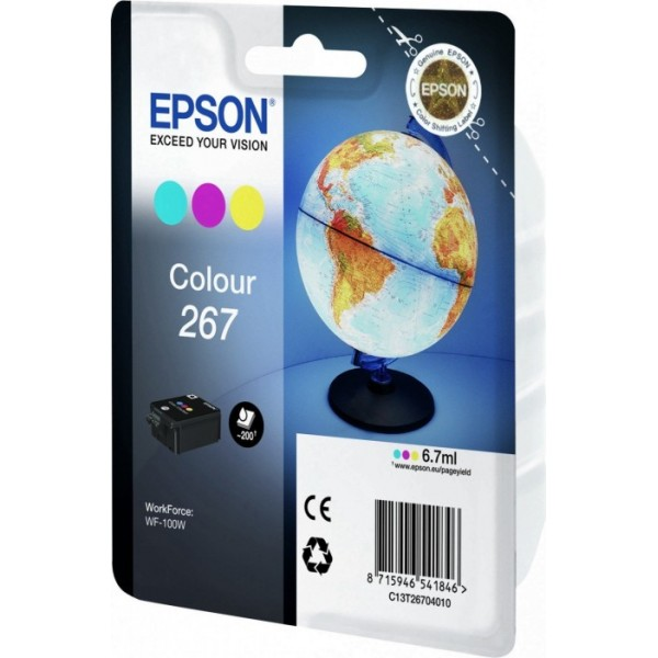 Cartus cerneala Epson 267 C/M/Y standard capacity 1-pack RF-AM blister