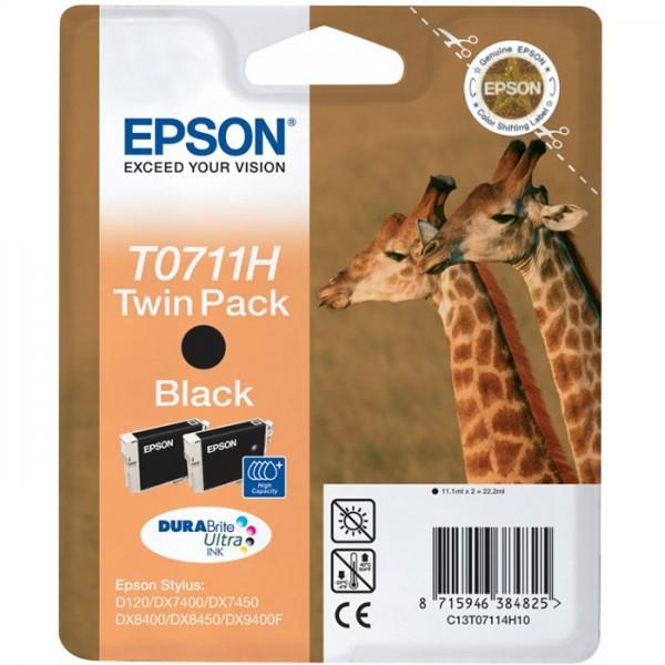 Cartus cerneala Epson Black cap. mare T07114H 2buc/pac