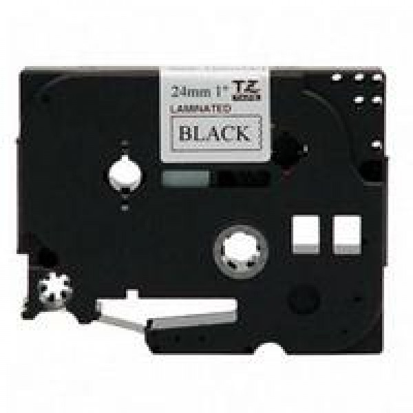 Black on white tape 24mm/8m BRACC-TZ251           ...
