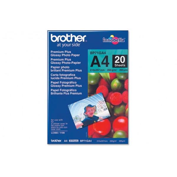 Hirtie foto Brother BP71GA4 (20 coli, A4, 260 g/m2...