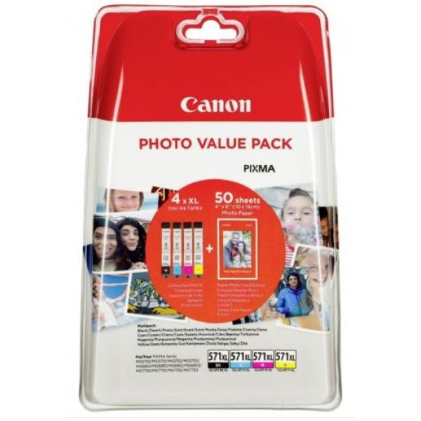 Canon CLI-571XL C/M/Y/BK PHOTO VALUE Pack