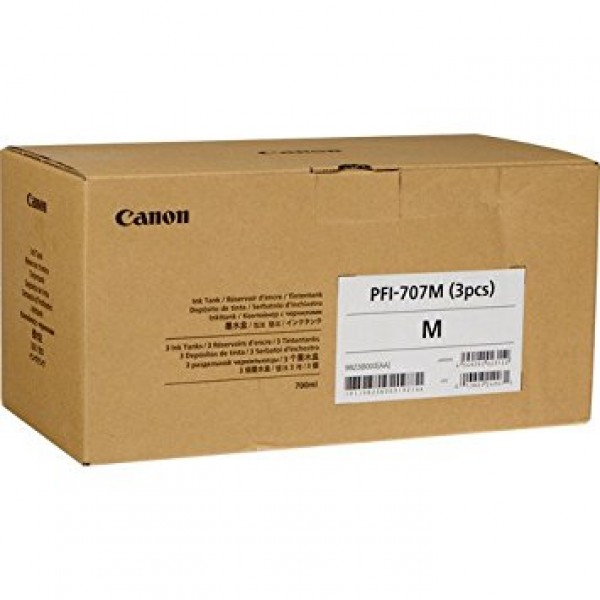 Cartus Canon PFI-707MX3 , magenta pack 3 x 700ml
