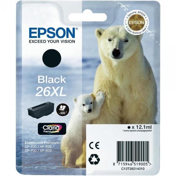 Cartus cerneala Epson Black cap. mare 26XL T262140