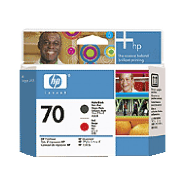 Cap de printare HP 70 Matte Black&Red C9409A