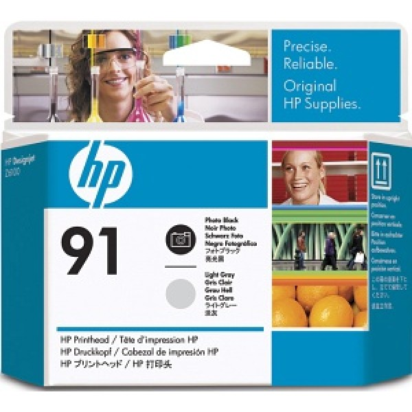 Cap de printare HP 91 Photo Black&Light Grey C...