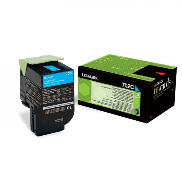 Cartus toner Lexmark 702C Cyan Return Program 70C2...