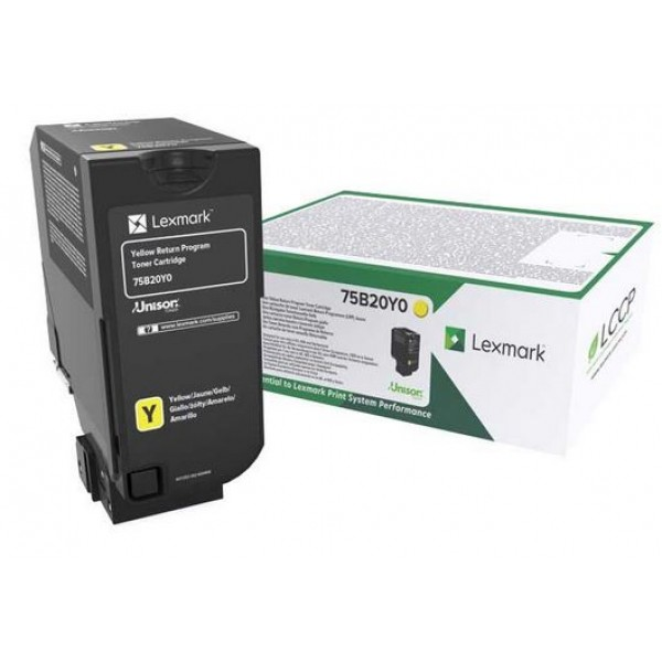 Cartus toner Lexmark Standard Yellow Return 75B20Y...